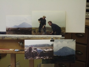 photo of turfcutters subject matter plus mount errigal