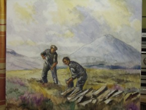 view of the third stage of the turfcutters painting