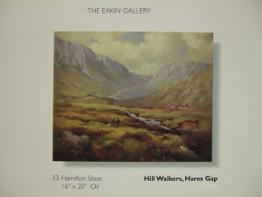 page from Eakin Gallery catalogue showing Hamilton Sloan painting