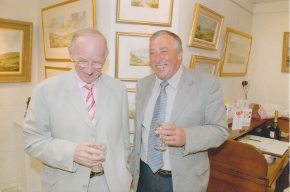 Hamilton Sloan at the opening of the McILwaine Fine Art gallery Larne